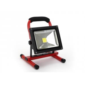 LED Floodlight 20W, portable, with battery